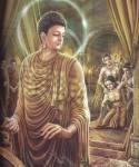 พระนางพิมพาพิลาปรำพันถึงพระพุทธองค์ เสด็จพระพุทธดำเนินไปโปรดถึงในปราสาท